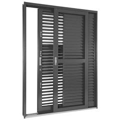 Porta-Balcão de Correr 3 Folhas Multiflex 217x160x16,5cm Direita - Ref: 69911722 - Sasazaki