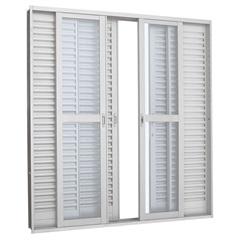 Porta Balcão de Correr Branca Prátika - Ref.: 217x200 2634105-1 - Sasazaki