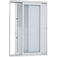 Porta Balcão de Correr Esquerda Aluminium 216,5x160,5cm Branca - Sasazaki