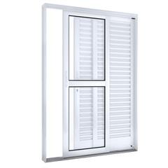 Porta Balcão Lateral Esquerdo Branco 215x150x14cm - Lucasa