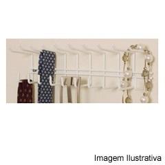 Porta Cintos E Gravatas Branco  - Metaltru