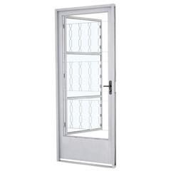 Porta com Grade Esquerda Prátika 217x87cm Branca