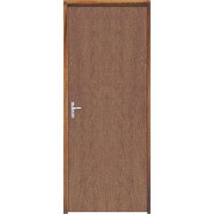 Porta com Miolo Semi Oco Montada Direita Imbuia Lisa 210x82cm Marrom - Sidney Esquadrias