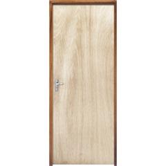 Porta com Miolo Semi Oco Montada Direita Virola Lisa 210x62cm - Sidney Esquadrias