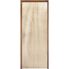 Porta com Miolo Semi Oco Montada Direita Virola Lisa 210x72cm - Sidney Esquadrias