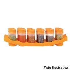 Porta Condimentos 7 Peças Ref. 2610 - Plasútil