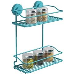 Porta Condimentos Duplo Verona Fixa Click - Azul - Domo House