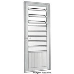 Porta de Abrir com Almofada E Báscula Branca 217x88x8cm  Esquerda - Ref: 73042020 - Sasazaki