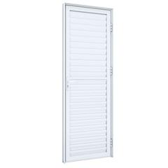 Porta de Abrir Laminada 215x85x8 Abertura para Direita, de Aluminio - Ullian