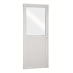 Porta de Abrir Mista 215x75x8 Abertura Esquerda, de Aluminio - Ullian