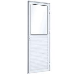 Porta de Abrir Mista 215x85x8 Abertura Direita, de Aluminio  - Ullian