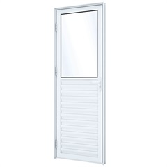 Porta de Abrir Mista 215x85x8 Aluminio - Ullian
