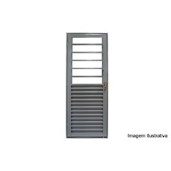 Porta de Abrir Mista Basculante Direita 215x85x6,5 Ref. 1346.2 - Lucasa
