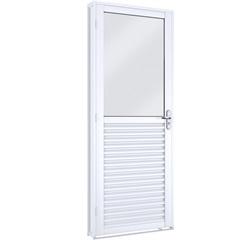 Porta de Abrir Mista com Vidro Inteiro 215x86x6,5 Cm Ref.: 1745.1  - Lucasa
