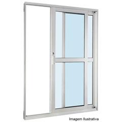 Porta de Correr Branca 2,18x1,60x12cm  Esquerda - Ref: 74161022 - Sasazaki