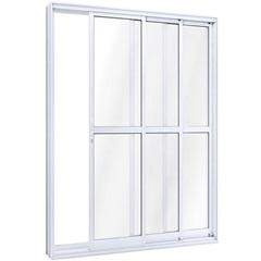 Porta de Correr com Travesa Direita Ideale 215x150cm Branca