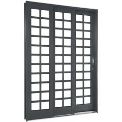Porta de Correr Quadriculada Direita Silenfort 2,17x2,00 Ref.:  69511740 - Sasazaki