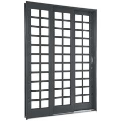 Porta de Correr Quadriculada Esquerda Silenfort 2,17x2,00m - Ref.: 69511759  - Sasazaki
