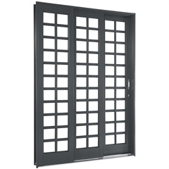 Porta de Correr Quadriculada Esquerda Silenfort 217 X 150 X 14cm  - Ref.: 69511732 - Sasazaki
