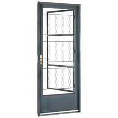 Porta Direita com Grade Elo Belfort 217x87cm Cinza
