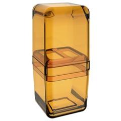 Porta Escova com Tampa Cube Mel Ref: 20877/0456 - Coza