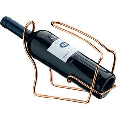 Porta Garrafa de Vinho em Aço Cobreado