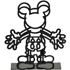 Porta Guardanapo em Metal Mickey Preto - Importado