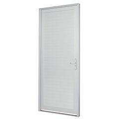 Porta Lambri Horizontal Esquerda Alumifort 216x88cm Branca - Sasazaki