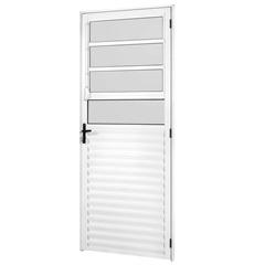 Porta Madri New 210x86 Brilhante Vidro Canelado Direita - Ebel