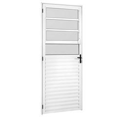 Porta Madri New 210x86 Brilhante Vidro Mini Boreal Esquerda - Ebel