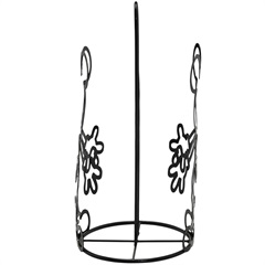 Porta Papel Toalha em Metal Mickey Preto - Importado