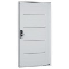 Porta Pivoltante Lambris Friso E Fechadura Biométrica Branca 223,5 X 126,2 Direita –7244131-1 - Sasazaki