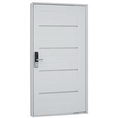 Porta Pivoltante Lambris Friso E Fechadura Biométrica Branca 223,5 X 126,2 Esquerda –7244132-0 - Sasazaki