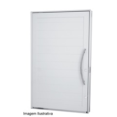 Porta Pivotante Branca Abertura Esquerda 2,24x1,27 Ref.: 7244302-0  - Sasazaki