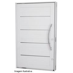Porta Pivotante com Friso Branca Abertura Direita Aluminium 2,24x1,27 Ref.: 7244101-0  - Sasazaki