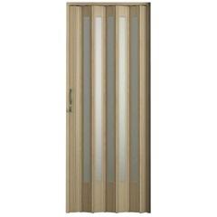 Porta Plus Sanfonada Translúcida Carvalho Prata com Trinco 84 X 210 Ref. 04403-14