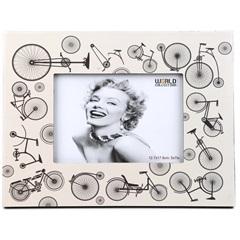 Porta Retrato 13 X 18 Cm Bicicleta Branco - Toyland