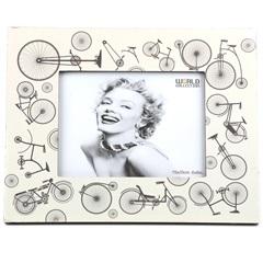 Porta Retrato 15 X 20 Cm Bicicleta Branco - Toyland