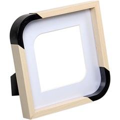 Porta Retrato Scoop Branco 15x15cm - Importado
