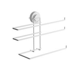Porta Rolos Triplo Slim Fixa Click Branco 3072-004 - Domo House