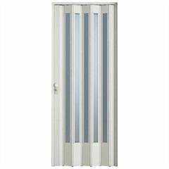 Porta Sanfonada com Fechadura Translúcida 210 X 84 Cm Branca - BCF