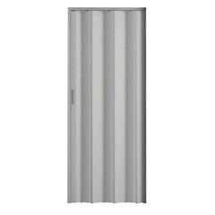 Porta Sanfonada com Puxador E Trinco 210x72cm Cinza