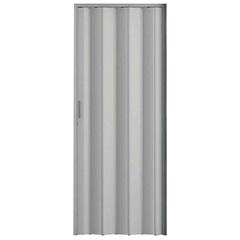Porta Sanfonada com Puxador E Trinco 210x84cm Cinza - Metropac