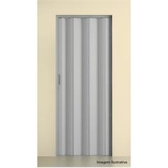 Porta Sanfonada com Trinco Cinza 2,10x60cm - BCF