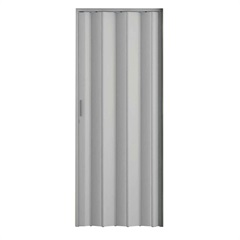 Porta Sanfonada com Trinco Cinza 210x72cm - Metropac