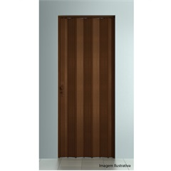 Porta Sanfonada Plast Porta com Fechadura 210x84cm Imbuia - BCF
