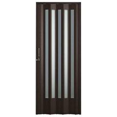 Porta Sanfonada Translúcida Plus Wengué com Trinco 72 X 210 Cm Ref. 04402-13    - BCF