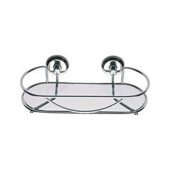 Porta Shampoo Cromado Versailles com Vidro Ref. 49v - Moldenox