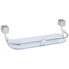 Porta Shampoo Eco Transparente E Cromado - Expambox