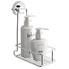 Porta Shampoo Slim Fixaclick Cromado - Domo House